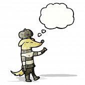 cartoon dog wearing beret