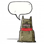 picture of growl  - cartoon growling dog - JPG