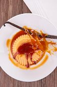 creme caramel vanilla custard dessert
