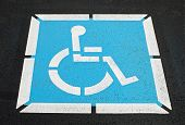 Pavement Handicap Symbol