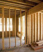 Interior shot of construction site