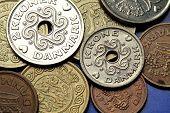Coins of Denmark. Danish krone coins.