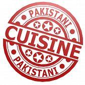 picture of pakistani  - Pakistani cuisine stamp image with hi - JPG