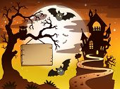 Theme with Halloween silhouette 3 - eps10 vector illustration.