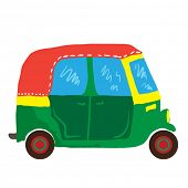 cute mini van cartoon illustration