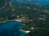 Aerial view of Lipiades in Corfu island  Greece
