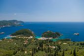 The bay of Paleokastritsa in Corfu Greece