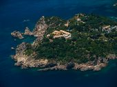 Monastery in Paleokastritsa in COrfu Greece