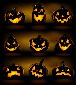 Halloween lanterns, vector illustration.