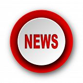 news red modern web icon on white background