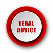 legal advice red modern web icon on white background
