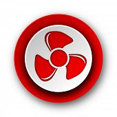 fan red modern web icon on white background