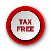 tax free red modern web icon on white background