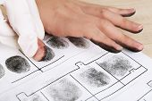 picture of fingerprint  - Taking fingerprints - JPG