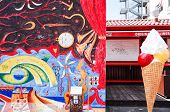 BERLIN, GERMANY- JULY 31, 2014: Berlin Wall was a barrier constructed starting on 13 August 1961. East Side Gallery is an international memorial for freedom. JULY 31, 2014 in Berlin