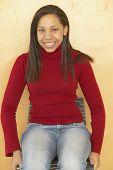 Portrait of African teenaged girl