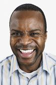 Close up of African man laughing