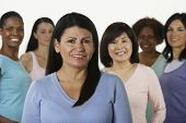 Group of multi-ethnic women
