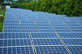 Solar Panels In The Park Of Modern City