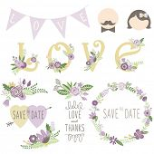 Wedding Floral Invitation Elements