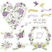 Heart Shape Wedding Flora Set