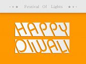 foto of laxmi  - Stylish Happy Diwali text on white part with text Festival of Light as header - JPG