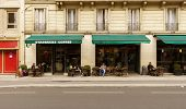 PARIS - SEPTEMBER 06: cafe exterior on September 06, 2014 in Paris, France. Paris, aka City of Love, is a popular travel destination and a major city in Europe
