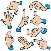 set of hands cartoon illustration