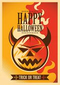 Halloween poster design in color. Vector illustration.