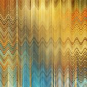 art abstract colorful zigzag geometric pattern background in gold, blue and beige colors