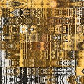 art abstract geometric horizontal stripes pattern background in gold, black and brown colors