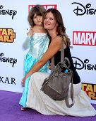 LOS ANGELES - OCT 1:  Natalia Scout Lee Stafford, Michelle Stafford at the VIP Disney Halloween Even