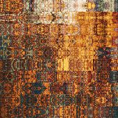 art abstract geometric horizontal stripes pattern background in brown, orange and red colors