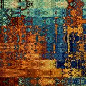 art abstract geometric horizontal stripes pattern background in blue, orange and brown colors
