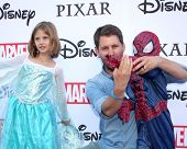 LOS ANGELES - OCT 1:  Jon Heder, family at the VIP Disney Halloween Event at Disney Consumer Product Pop Up Store on October 1, 2014 in Glendale, CA
