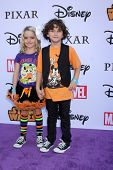 LOS ANGELES - OCT 1:  McKenna Grace, August Maturo at the VIP Disney Halloween Event at Disney Consumer Product Pop Up Store on October 1, 2014 in Glendale, CA