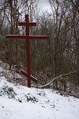 Original Cross In Snow