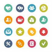 Web Icons // Fresh Colors -- Icons and buttons in different layers, easy to change colors.