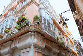Cartagena modernist buildings downtown in Murcia Spain