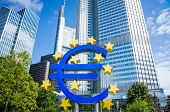 Frankfurt, Germany-August 16 : Euro Sign. European Central Bank (ECB) is the central bank for the eu