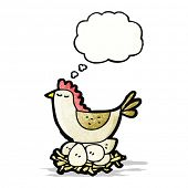 cartoon chicken on nest