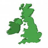 Verenigd Koninkrijk en Ierland kaart