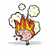 migraine brain cartoon