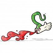 snake bite cartoon