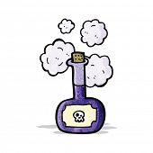cartoon poison bottle