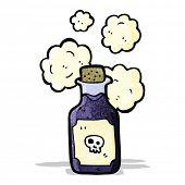 cartoon vial of poison