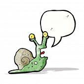 cartoon frightened snail