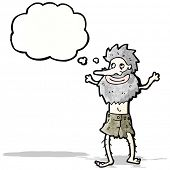picture of hermit  - cartoon hermit - JPG