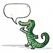 grinning crocodile cartoon