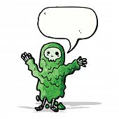 stock photo of ghoul  - slimy ghoul cartoon - JPG